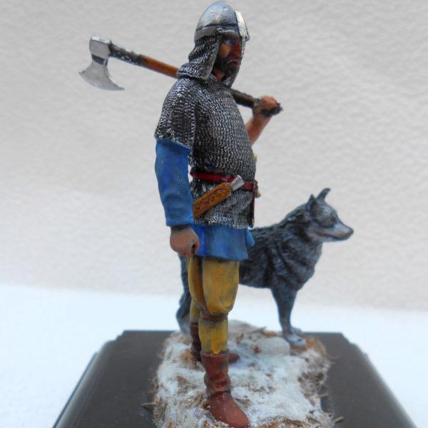 Викинг с собакой
