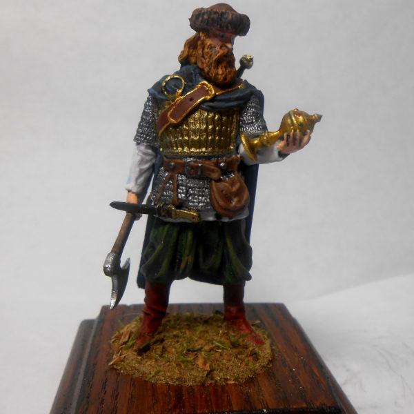 Знатный воин с трофеем