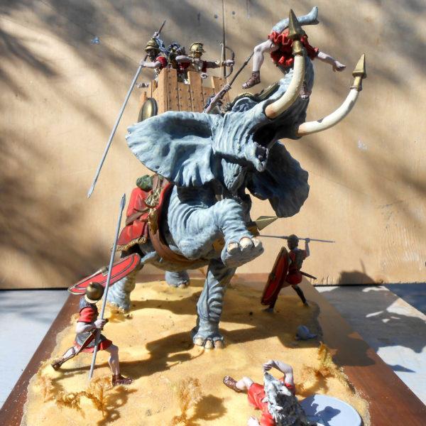 Карфагенский боевой слон, битва при Заме