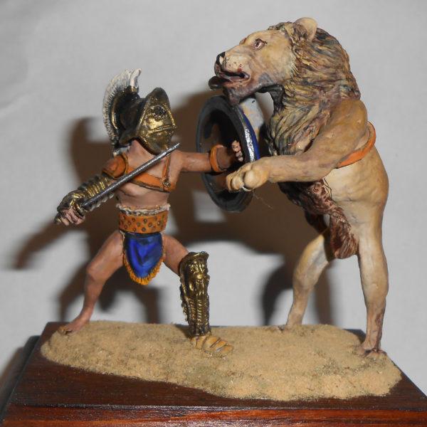 Поединок венатора со львом