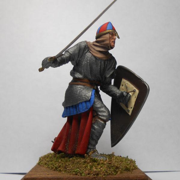 Нормандский рыцарь с мечом 90 мм