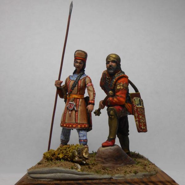 Скифский царь с воительницей, 5 век до н.э.