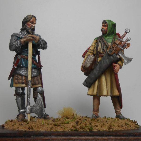 Рыцарь с оруженосцем