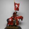 Конный иоанит с флагом, 13 век