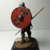 Викинг с копьём и щитом
